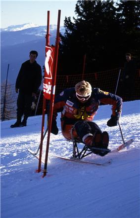 a sit skier