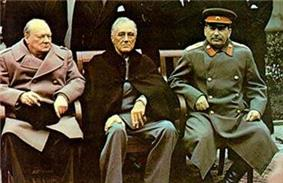Yalta summit 1945 with Churchill, Roosevelt, Stalin tight crop.jpg