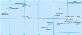 Map of Yap State