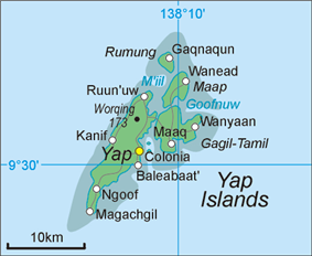 Map of Yap Islands