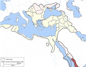 Location of Yemen Eyalet