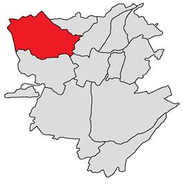 Ajapnyak district shown in red