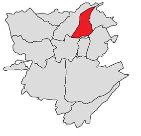 Location of Kanaker-ZeytunՔանաքեռ-Զեյթուն
