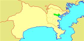 Location of Kanagawa in