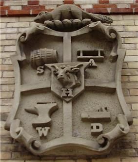 Coat of ArmsThis , today mounted on  Station #312, was once affixed to Yorkville's Town Hall