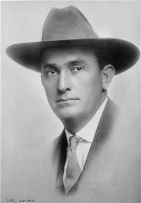 Carl Hayden c. 1910 wearing a cowboy hat