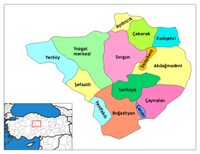 Districts of Yozgat