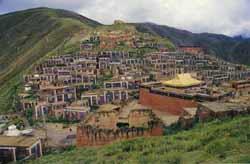 Dondrub Ling monastery in the town of Gyêgu, Yulshul County