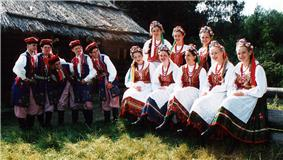Polish folk costumes from the Krakow region