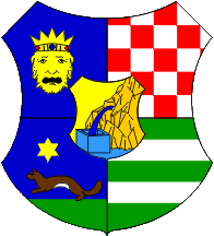 Post-1992 coat of arms of Zagreb County
