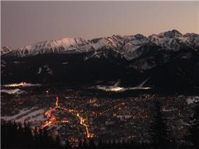 Zakopane at night