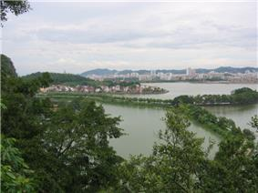 Panorama view of Duanzhou District and Seven Star Crags