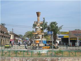 Place Jean-Paul II in the Escale neighborhood of Ziguinchor