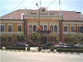 Zalău City Hall in Iuliu Maniu Square