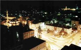 Zile City Center at night