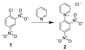 The formation of the DNP-pyridinium salt