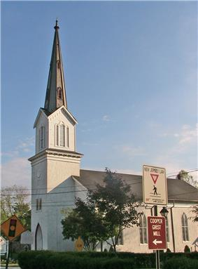 The Zion Lutheran Church in the center of Long Valley.