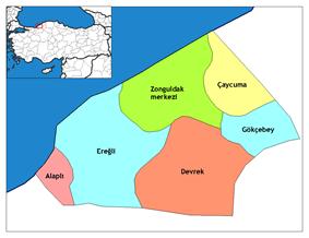 Districts of Zonguldak