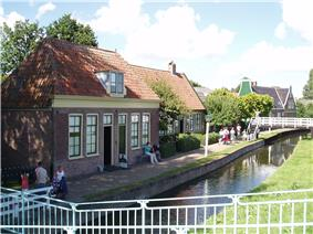 Historic houses in the Zuiderzee Museum.