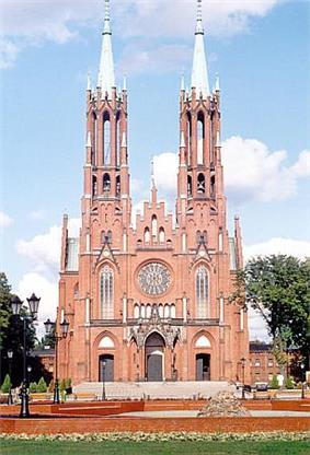 Gothic revival church in Żyrardów